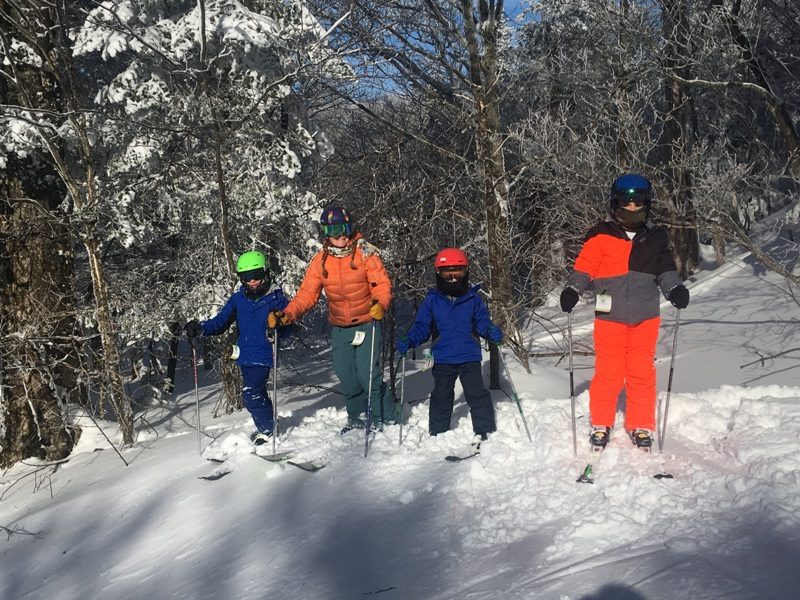 Custom winter adventures for families and groups of adults and children leaving from Stowe, VT