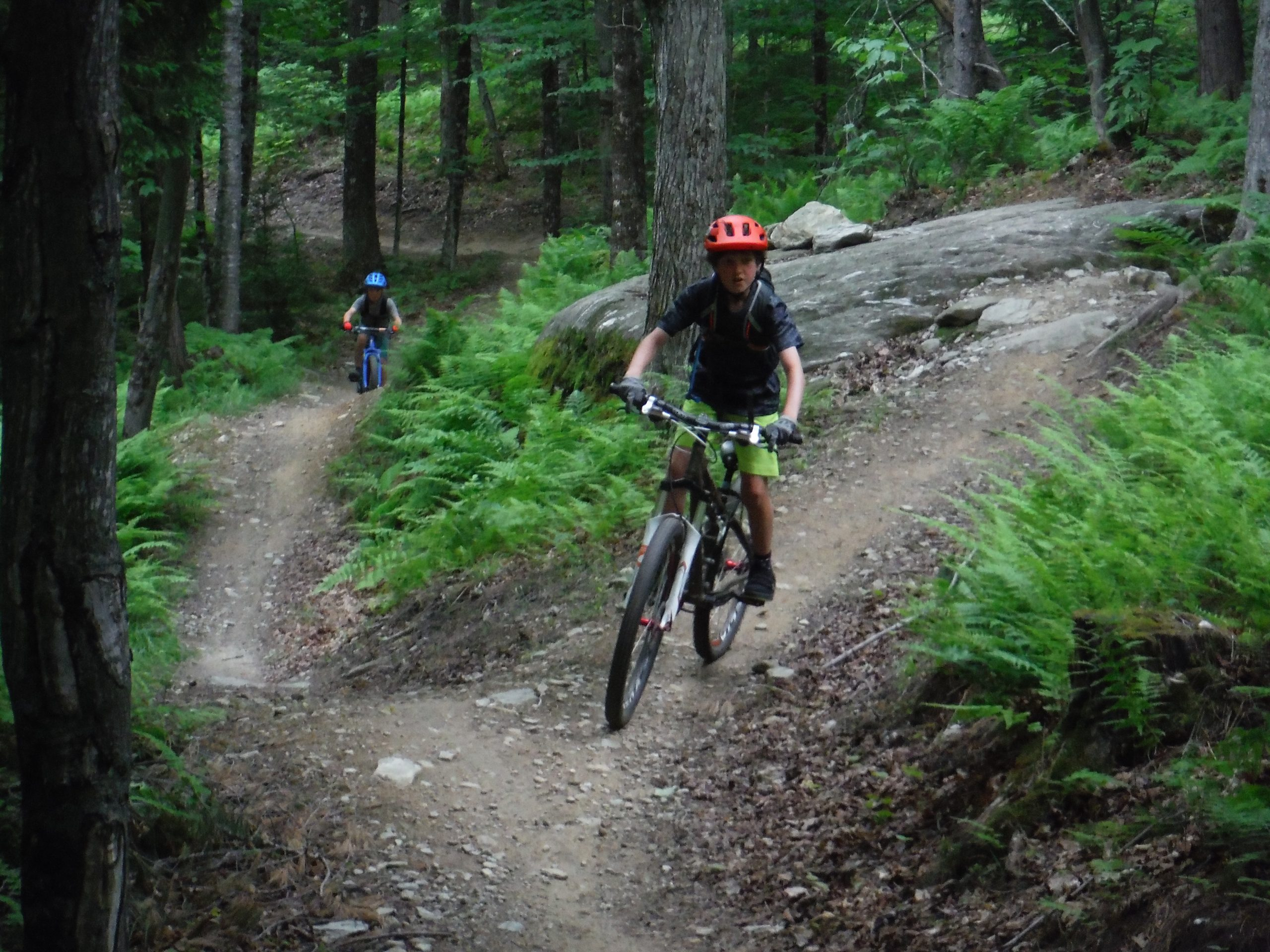 After taking a dip, we hop right back on our bikes to continue adventuring. Mud city offers all sorts of fun adventures for families and kids. Custom tours of the Stowe Vermont area too.